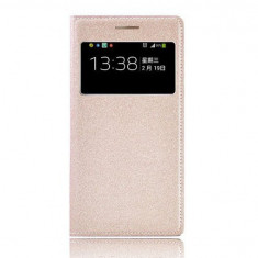Husa flip cover SAMSUNG GALAXY S4 cu s view active, visiniu - Husa Telefon Samsung, Rosu