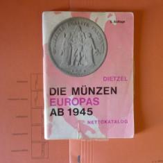 Catalog numismatica (monede emise in Europa intre 1945-1975) - album clasor