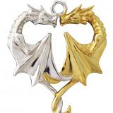 Pandantiv argint Inima de dragon - Pandantiv fashion