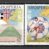 Albania.1996 C.E. de fotbal ANGLIA SA.561 - Timbre straine, Nestampilat