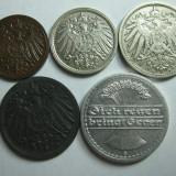 Germania (2) - 1, 5, 10, 50 Pfennig 1901-1921, Europa