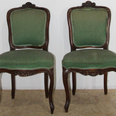 Set 2 Scaune Vintage Stil Florentin, din lemn masiv; Scaun pentru reconditionare
