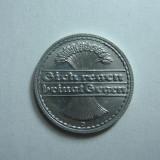 Germania (3) - 50 Pfennig 1922 D aUNC, Europa, Aluminiu
