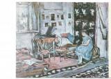 @ carte postala -SIBIU muzeul brukental -Gh Petrascu-Interior cu femeie, Necirculata, Printata