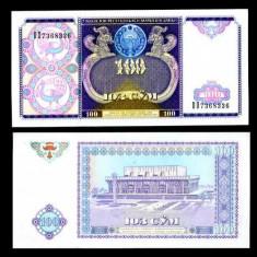 UZBEKISTAN- 100 SUM 1994- P 79- UNC!!