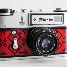 Fed 5B, aparat foto rangefinder, vechi functional, pe film 35mm, de colectie - Aparat Foto Cu Film Fed