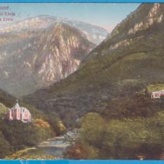 CARTE POSTALA CIRCULATA - BAILE HERCULANE - VALEA CERNEI SI VILA LIVIA - Carte Postala Banat 1904-1918, Printata