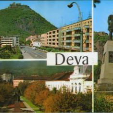 Romania - Carte postala circ. 1975- Deva - Colaj de imagini - Carte Postala Transilvania dupa 1918, Circulata, Fotografie