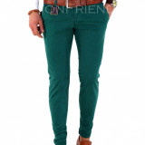 Pantaloni tip ZARA verzi - pantaloni barbati slim fit office - 7799, Marime: 30, 31, 32, 34, Culoare: Din imagine