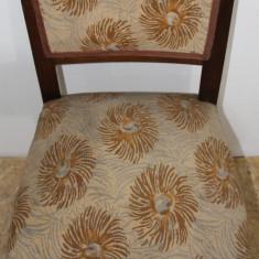Set 4 Scaune Vintage Stil Rococo, din lemn masiv; Scaun pentru retapitare, 1900 - 1949