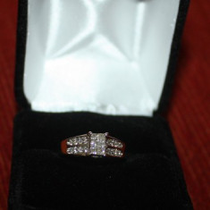 Inel diamante 0.70 ct naturale aur 14K, Culoare: Galben