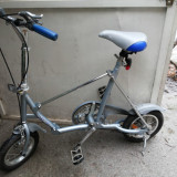 Bicicleta mini, pentru camping, roti mici - Bicicleta pliabila, 15 inch, 12 inch, Numar viteze: 1