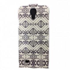 Husa Flip Cover TELLUR negru / alb pentru Samsung Galaxy S4 - Husa Telefon