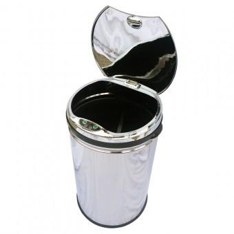 Cos gunoi cilindric, inox Strend Pro AD-01, 30 L, senzor deschidere capac foto mare
