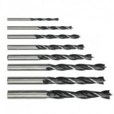 Set 8 burghie pentru lemn Vorel, 3-10mm