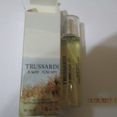 PARFUM 40 ML TRUSARDI A WAY FOR HIM --SUPER PRET, SUPER CALITATE! - Parfum barbati Trussardi, Apa de toaleta