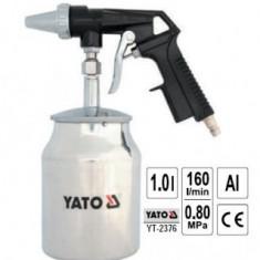 Pistol pentru sablat cu rezervor metalic 1L, Yato YT-2376 - Dispozitiv de sablare Service