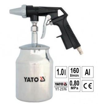 Pistol pentru sablat cu rezervor metalic 1L, Yato YT-2376 foto