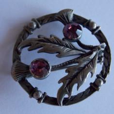 Brosa cositor vintage -1166 - Brosa argint