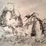 TARANI LA  CAMP, Peisaje, Cerneala, Impresionism
