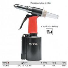 Presa pneumatica de nituit 2, 4 - 4, 8mm, YATO YT-3617
