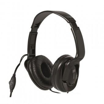 Casti audio stereo, cu potentiometru volum, Sal HPH 7, culoare negru, cablu 5 m foto mare