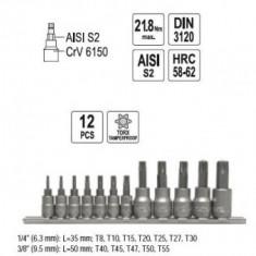 Set imbus in stea 1/4''-3/8'', 12 buc, YATO YT-0431 - Cheie imbus