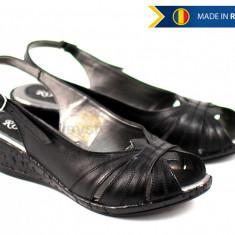 Sandale dama din piele naturala, cu platforma - cod ROVIOS, Marime: 35, 36, 37, 38, 39, 40