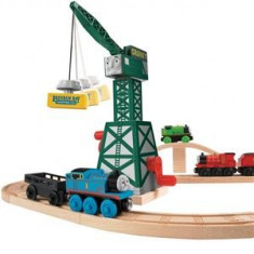 Jucarie Thomas And Friends Wooden Railway Cranky The Crane - Trenulet