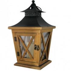 Lampa de gradina din lemn cu led, Slovakia Trend YT8680