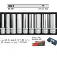 Trusa tubulare lungi 3/8 9 piese Yato YT-3861