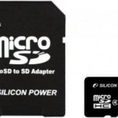 Card de Memorie Silicon Power microSDHC 16GB Class4+adaptor SD - Card memorie