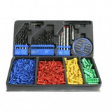 Set accesorii pentru gaurit si insurubat, Strend Pro MS036, valiza plastic, 500 piese
