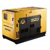 Generator diesel insonorizat monofazat 8.5 kVA, Kipor KDE 11 SS - Generator curent Kipor, Generatoare cu automatizare