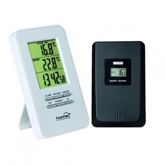 Termometru fara fir pentru interior si exterior Home HC 11, ceas desteptator foto mare