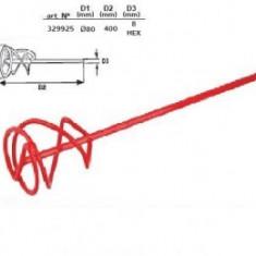 Mixer vopsea 80x400mm-hex 8mm, Raider - Malaxor constructii