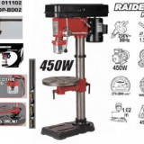 Masina de gaurit Raider Power Tools cu coloana 450W, Raider, Retea