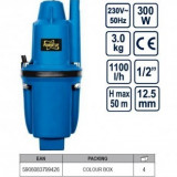 Pompa submersibila cu membrana Power Up 300W, Yato 79942 - Pompa gradina