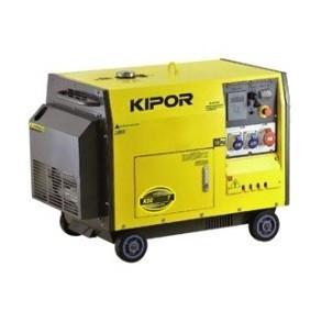 Generator diesel insonorizat monofazat 8.5kVA, Kipor KDE 12000 TA foto mare