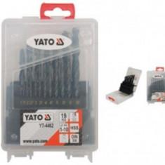 Set burghie metal HSS 19 bucati, 1-10mm, YATO YT-4462