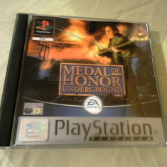 Medal of Honor Underground playstation one, PS1, alte sute de jocuri Electronic Arts, Shooting, 16+, Single player