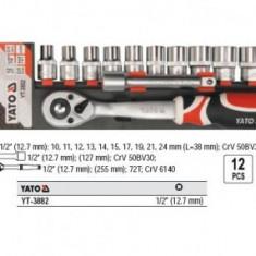 Trusa chei tubulare 1/2 12 piese YATO YT-3882