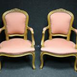 Superb set de 2 fotolii franceze