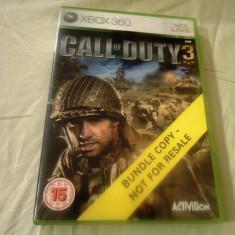 Joc Call of Duty 3, XBOX360, original, alte sute de jocuri! - Jocuri Xbox 360, Shooting, 18+, Single player
