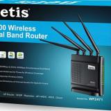 Router Wireless Netis WF2471 Dual Band, Porturi LAN: 4
