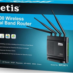 Router Wireless Netis WF2471 Dual Band, Porturi LAN: 4