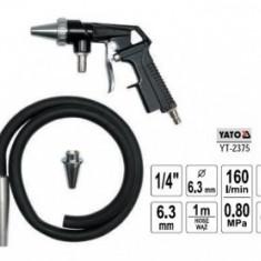 Pistol pentru sablat 6.3mm + furtun 1m, Yato YT-2375 - Dispozitiv de sablare service