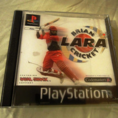 Brian Lara Cricket playstation one, PS1, alte sute de jocuri Codemasters, Sporturi, 3+, Multiplayer