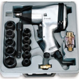 Pistol de impact pneumatic cu accesorii, 320Nm, FERVI 0044 - Cheie pistol pneumatic Service
