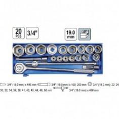 Trusa de chei tubulare cu antrenor, 3/4, 22-50mm, Vorel